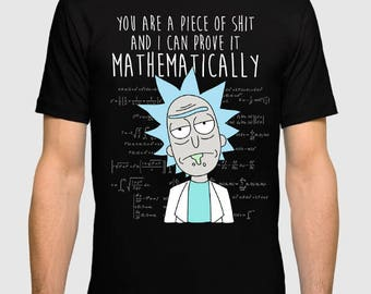 Rick and Morty T-Shirt Rick Sanchez Mathematically Men's Women's Science Tee