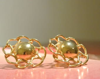 1950s/60s 14K GOLD EARRINGS// vintage