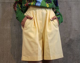 Vintage Slouchy Pale Yellow Shorts