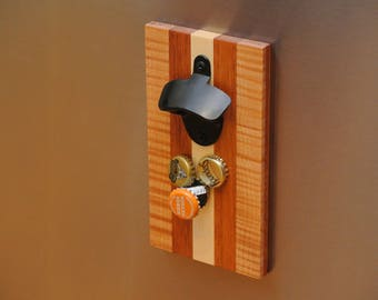 Bottle Opener Magnetic Made From Scrap Guitar Wood