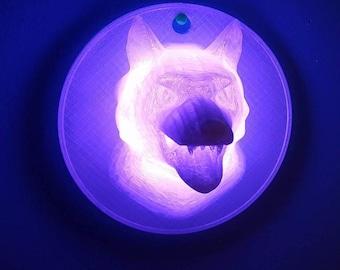 Led Wolf Lamp Etsy