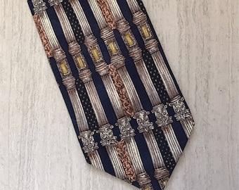 Vintage BIALUCCI Collection Greek Column Men's Silk Neck Tie