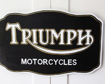 Triumph Motorcycle Painted Sign