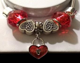 Love Lock Charm Bracelet