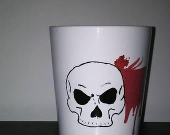 BADASS Skull Blood Splatter 14oz Mug