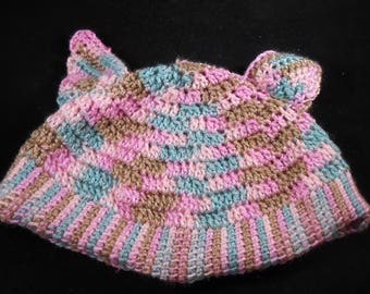 Crocheted Cap with 'ears'
