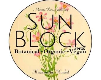 SALE! Chemical-Free Sunscreen,Organic Sunscreen,Vegan SunScreen,Botanical Sunscreen,Herbal Sunscreen,Medicinal Sunscreen,Soothing,HealingSu