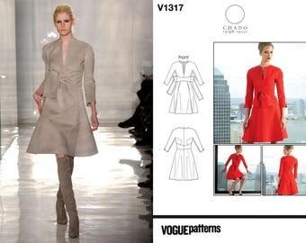 Vogue Patterns American Designer V1317 (8-10-12-14-16) Chado Ralph Rucci Dress