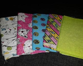 Colorful Catnip squares (set of 2)