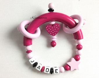 Pink White custom rattle