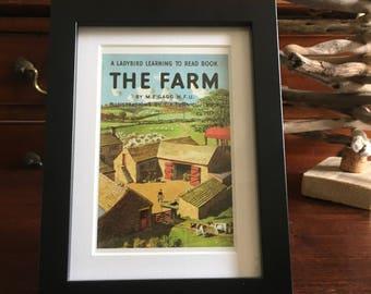 Retro Ladybird Book cover Framed. The Farm