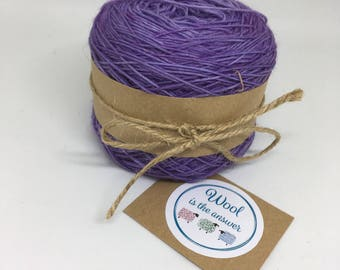 Hand Dyed 4 ply Superwash Merino - Purple 8