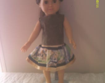 """18"""" doll dress with jungle animals"""