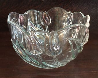 "Mikasa crystal round 8"" bowl"