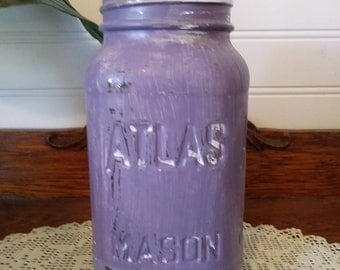Rustic Mason Jar Hand Painted Home Decor