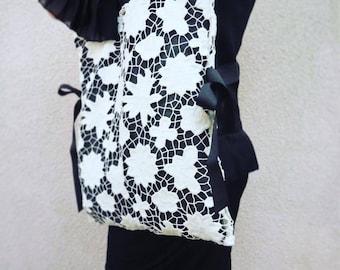 Handmade guipure bag