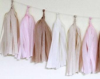 Tissue Paper Tassel Garland Kit- Blushing