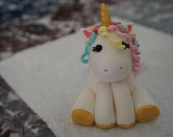 Fondant Unicorn Cake Topper Fondant rainbow unicorn