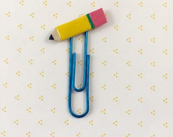 Polymer Clay Pencil Paperclip