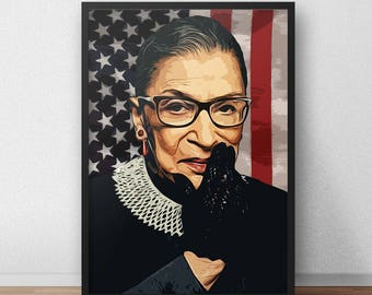 Supreme Court Justice Ruth Bader Ginsburg Poster