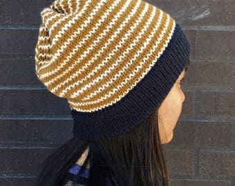 Striped Slouchy Hat (Beanie)