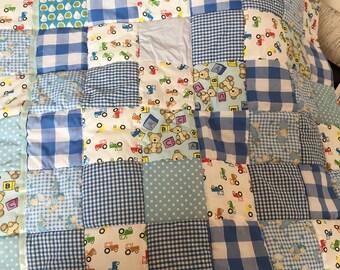 Handmade Bespoke Patchwork Baby Quilt