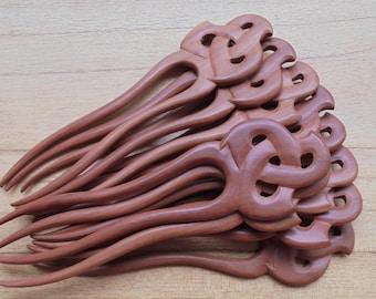 2 Prongs Celtic Wood Hair Sticks, Organic Wood Hair Fork, Hair Pin Accessories HS 301