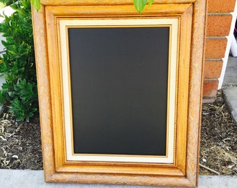 Vintage Wood Framed Chalkboard; Wedding Chalkboard; Ornate Chalkboard Sign