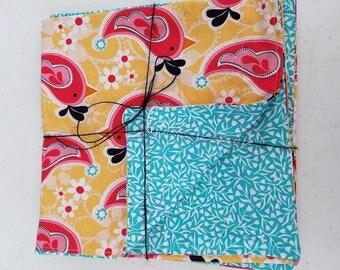 Set of Four Handmade Napkins