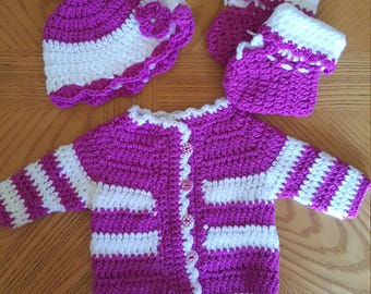 Baby Girl Sweater Set