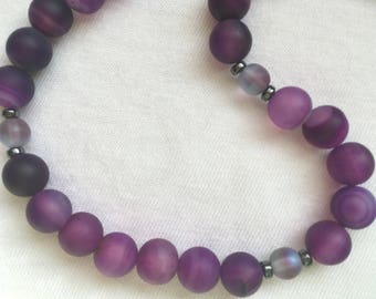 "Wine Country: 18"" semi-precious stone necklace"