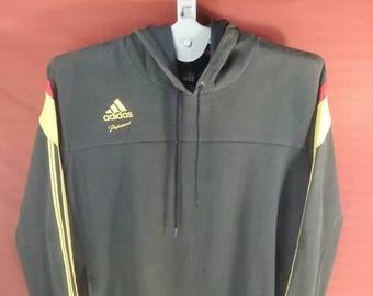 Vintage Adidas Hoodie Sweatshirt Big Logo Back Shirt Black Colour Size
