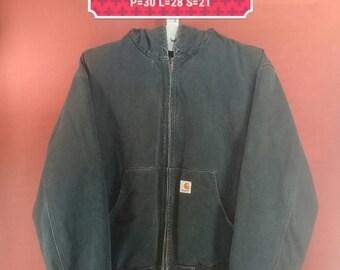 Vintage Carhartt Hoodie Jacket Sweater Heavy Jacket Black Colour Size 2XL Heavyduty Jackets Carhartt Shirts Commo Des Garcon Polo RL Jackets