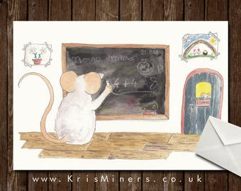 Whimsical Greetings Card - Ideal for School Teachers - Chalk and Cheese