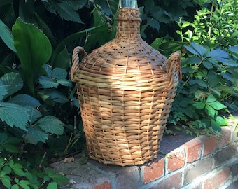 Vintage French Wicker Bottle