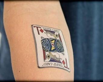 Trump Tattoo, Trump Card Temporary Tattoo