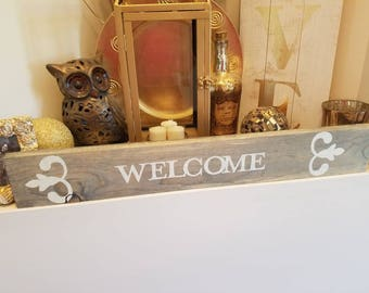 Welcome Wooden Sign Decor
