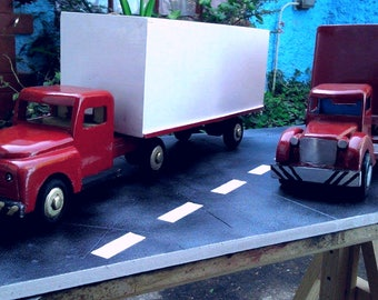 Trucks and trailers, wood, vintage style