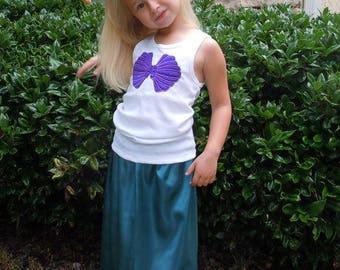 Ariel Little Mermaid clamshell skirt and tank top