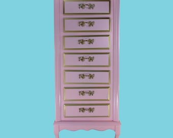 Mid-Century Pink French Provincial Lingerie Chest