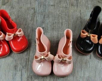 Mini Melissa Inspired Rain Boots