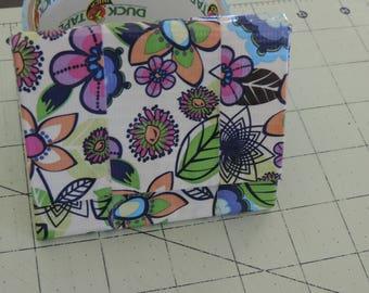 Flower design accordion wallet