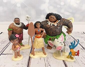Thomas MOANA Cake topper Disney figurine set