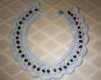 Beaded Crochet Choker Necklace