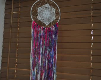 20cm Dream Catcher - Pink Purple White