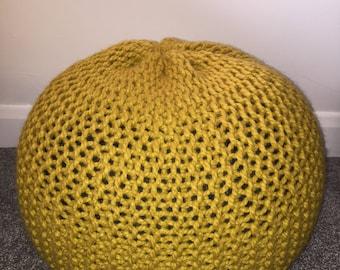 Barley Handmade Knitted Pouffe
