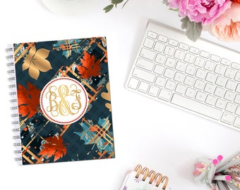 Plaid Autumn Planner Cover Personalized Monogram Dashboard Erin Condren Recollections A5 Personal Pocket Personal