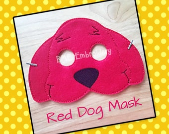 Clifford Inspired Mask-Child's Dress/Imaginary Play-Halloween Costume-Pretend Play-Photo Prop-Birthday Party Favor-Theme Party-Child's Gift