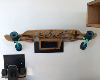 Longboard skateboard wall bracket