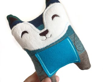 Tooth Fairy Pillow, Lost Tooth, Eco Friendly Toy, Tooth Fairy, Fox Plush Pillow, Woodland Nursery, Fox Pillow, Woodland Animal Plush